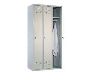 Металлический шкаф для одежды ПРАКТИК LS-31